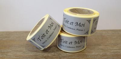 Réalisation de 500 étiquettes en rouleaux à Mantes-la-Jolie