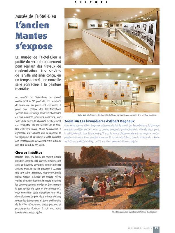 Réalisation d'une grande fresque murale pour le musée de l'Hôtel Dieu de Mantes-la-Jolie